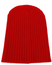 The Elder Statesman Cashmere Ribbed Beanie Hat