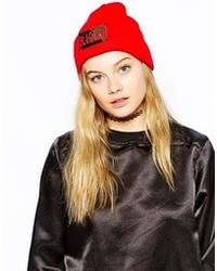 The Ragged Priest Thrash Beanie Hat Red