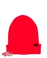 Vans Boast Beanie Neon Red