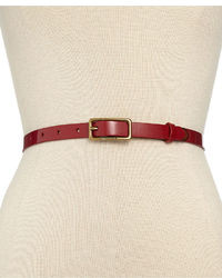 Tommy Hilfiger Belt Patent Leather Belt With Back Tab
