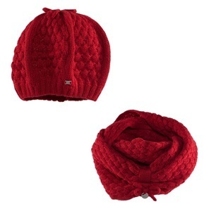 ... Mayoral Red Knitted Beret And Snood ... 7938516cabb