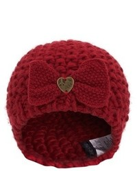 Ikks Red Knitted Beret With Bow