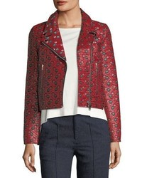 Heaton raffia jacquard moto jacket medium 5359908