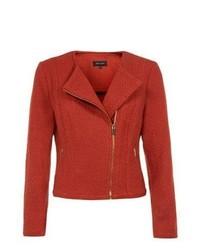 New Look Red Zip Pocket Biker Jacket