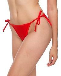 American Apparel Rnt07 Nylon Tricot Side Tie Bikini Bottom