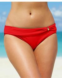 Lauren Ralph Lauren Ruched Sash Hipster Bikini Bottom