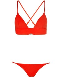 Bower Red Triangle Cross Bikini