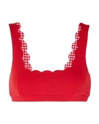 Marysia Palm Springs Scalloped Stretch Crepe Bikini Top