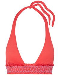 Heidi Klein Smocked Halterneck Bikini Top