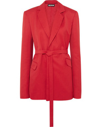 House of Holland Belted Canvas Blazer