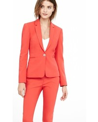Bright Red 24 Inch One Button Jacket