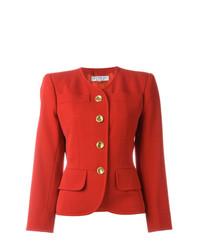 Yves Saint Laurent Vintage Collarless Blazer