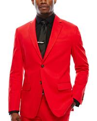 JF J.Ferrar Jf J Ferrar Cabret Red Stretch Sport Coat Slim Fit