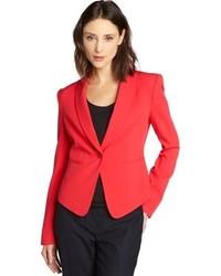 BCBGMAXAZRIA Lipstick Red Bowie Tuxedo Jacket