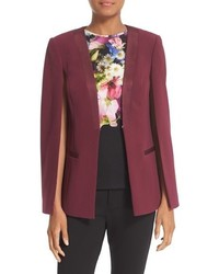 Ted Baker London Maggyy Ottoman Cape Blazer
