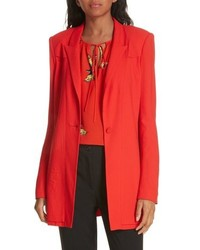 DVF Long Stretch Crepe Blazer