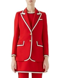 Peak lapel stretch cady blazer medium 8728837