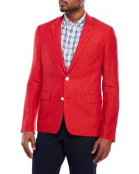 English Laundry Red Linen Sport Coat