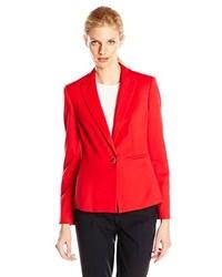 Anne Klein Stretch One Button Suit Jacket