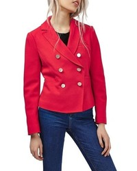 Topshop Gold Button Double Breasted Blazer