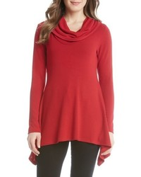 Karen Kane Cowl Neck Shark Bite Hem Sweater