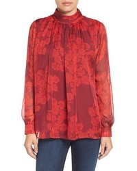 Vince Camuto Ruched Neck Blouse
