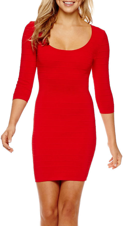 Mng By Mango 34 Sleeve Bodycon Dress 65 Jcpenney Lookastic