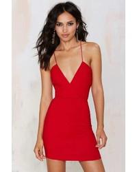 06f7671b8e ... Factory Billie Crossover Bodycon Dress Red