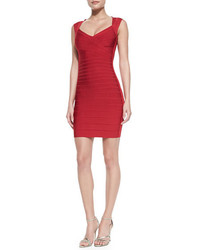 Herve Leger Cross Bust Bandage Dress