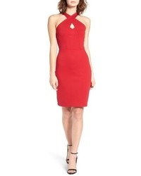 Cross front body con dress medium 952137