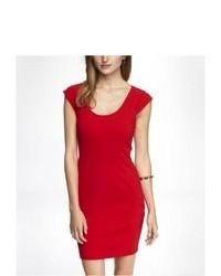 Express Cap Sleeve Sheath Dress Red 10