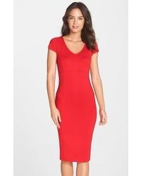 Nordstrom Felicity Coco V Neck Body Con Midi Dress