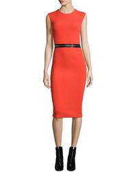 McQ by Alexander McQueen Mcq Alexander Mcqueen Zip Trim Bodycon Sheath Dress Red