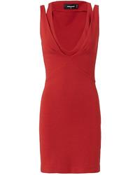 Dsquared2 Split Sleeve Bodycon Dress