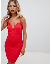 New Look V Neck Bodycon Dress