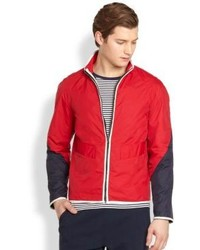 Saks Fifth Avenue Collection Modern Fit Colorblocked Windbreaker