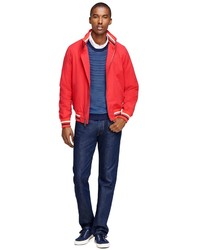 Brooks Brothers Daniel Bomber Jacket With Stripe Details