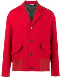 Valentino Notched Collar Bomber Jacket