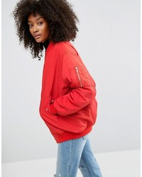 Asos Padded Oversized Bomber Jacket
