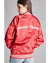 Forever 21 Redwolf Graphic Bomber Jacket