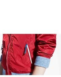 Mango Ribbed Edge Nylon Jacket