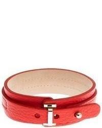 Brooks Brothers Leather Wrap Bracelet