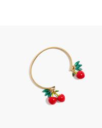 J.Crew Cherry Charm Cuff Bracelet