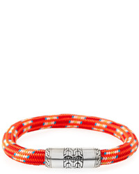 John Hardy Classic Chain Multicolor Cord Bracelet Red