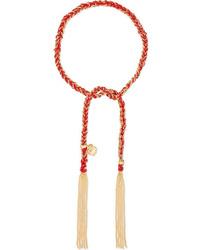Carolina Bucci Love Lucky 18 Karat Gold And Silk Bracelet