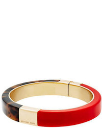 Michael Kors Michl Kors Colorblock Red Bangle Bracelet
