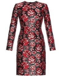 Rose brocade long sleeved dress medium 319702