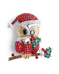 Nadri Jolly Owl Pin