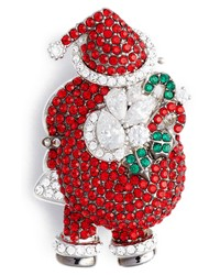 Nadri Jolly Santa Pin