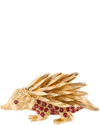 Oscar de la Renta Porcupine Brooch